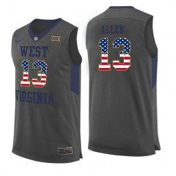 Women's West Virginia Mountaineers #13 Teddy Allen Authentic College Basketball Jersey Gray