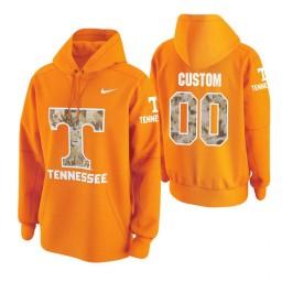 Tennessee Volunteers #00 Custom Men's Tennessee Orange College Basketball Hoodie