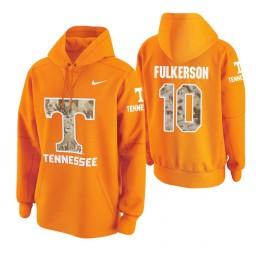 Tennessee Volunteers #10 John Fulkerson Men's Tennessee Orange College Basketball Hoodie