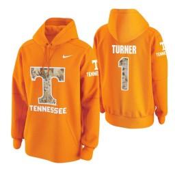 Tennessee Volunteers #1 Lamonte Turner Men's Tennessee Orange College Basketball Hoodie