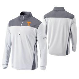 Tennessee Volunteers White Omni-Wick Standard Quarter-Zip Jacket