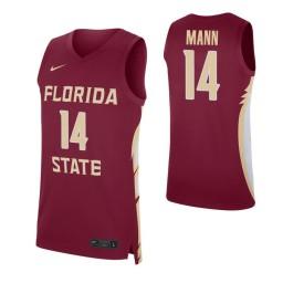 Florida State Seminoles #14 Terance Mann Garnet Authentic College Basketball Jersey