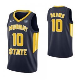 Women's Murray State Racers #10 Tevin Brown Authentic College Basketball Jersey Navy