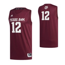 Women's Texas A&M Aggies #12 Basketball Authentic College Basketball Jersey Maroon