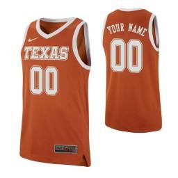 Texas Longhorns Replica Custom Jersey Texas Orange
