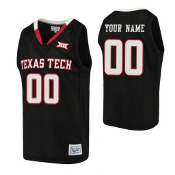 Texas Tech Red Raiders Custom Basketball Alumni Jersey Black