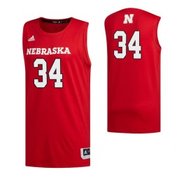 Women's Nebraska Cornhuskers #34 Thorir Thorbjarnarson Scarlet Authentic College Basketball Jersey
