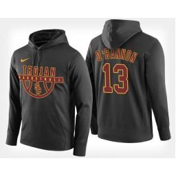 USC Trojans #13 Charles O'Bannon Jr. Black Hoodie College Basketball