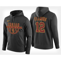 USC Trojans #12 Devin Fleming Black Hoodie College Basketball