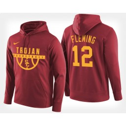 USC Trojans #12 Devin Fleming Cardinal Hoodie College Basketball