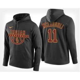 USC Trojans #11 Jordan McLaughlin Black Hoodie College Basketball