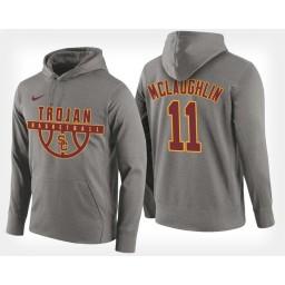 USC Trojans #11 Jordan McLaughlin Gray Hoodie College Basketball
