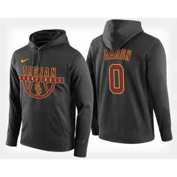 USC Trojans #0 Shaqquan Aaron Black Hoodie College Basketball