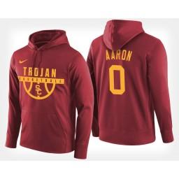 USC Trojans #0 Shaqquan Aaron Cardinal Hoodie College Basketball