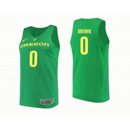 Youth Oregon Ducks #0 Troy Brown Authentic College Basketball Jersey Green