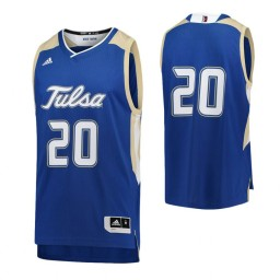 Youth Tulsa Golden Hurricane #20 Authentic College Basketball Jersey Royal