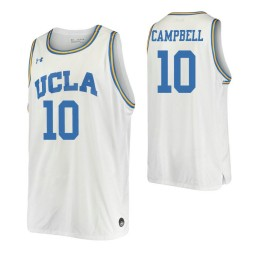 Women's Tyger Campbell Authentic College Basketball Jersey White UCLA Bruins