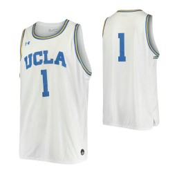UCLA Bruins #1 Authentic College Basketball Jersey White