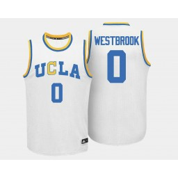 Women's UCLA Bruins #0 Russell Westbrook White Home Authentic College Basketball Jersey