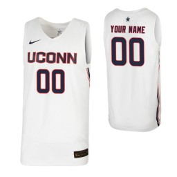 UConn Huskies Replica Custom Jersey White