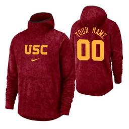 USC Trojans Custom Cardinal Basketball Spotlight Pullover Hoodie