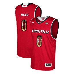 Women's Louisville Cardinals #0 V.J. King Authentic College Basketball Jersey Red