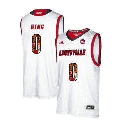 Women's Louisville Cardinals #0 V.J. King Authentic College Basketball Jersey White