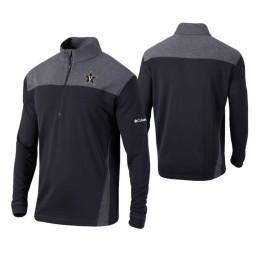 Vanderbilt Commodores Black Omni-Wick Standard Quarter-Zip Jacket