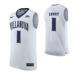Youth Villanova Wildcats #1 Kyle Lowry White Authentic College Basketball Jersey