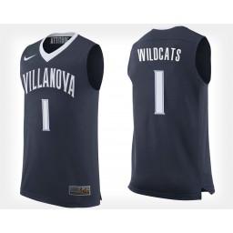 Villanova Wildcats NO. 1 Navy Home Authentic College Basketball Jersey