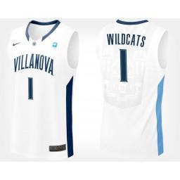 Villanova Wildcats #1 White Authentic College Basketball Jersey