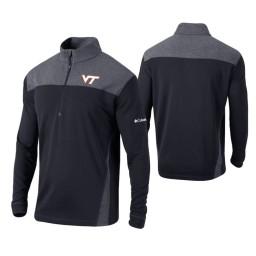Virginia Tech Hokies Black Omni-Wick Standard Quarter-Zip Jacket