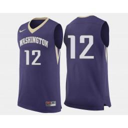 Women's Washington Huskies #12 Andrew Andrews Purple Road Authentic College Basketball Jersey