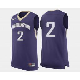 Women's Washington Huskies #2 Isaiah Thomas Purple Road Authentic College Basketball Jersey