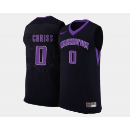 Women's Washington Huskies #0 Marquese Chriss Black Alternate Authentic College Basketball Jersey
