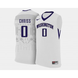 Women's Washington Huskies #0 Marquese Chriss White Home Authentic College Basketball Jersey