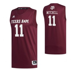 Women's Texas A&M Aggies #11 Wendell Mitchell Maroon Authentic College Basketball Jersey