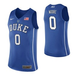 Women's Duke Blue Devils #0 Wendell Moore Royal Authentic College Basketball Jersey
