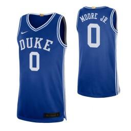 Women's Duke Blue Devils #0 Wendell Moore Jr. Royal Authentic College Basketball Jersey