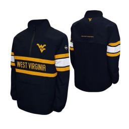 West Virginia Mountaineers Navy Alpha Windshell Quarter-Zip Jacket