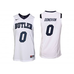 Youth Butler Bulldogs #0 Campbell Donovan Authentic College Basketball Jersey White