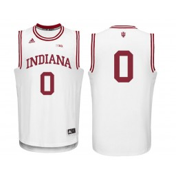 Indiana Hoosiers #0 Curtis Jones Authentic College Basketball Jersey White