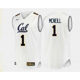 California Golden Bears #1 Darius McNeill Authentic College Basketball Jersey White