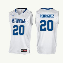 Youth Seton Hall Pirates #20 Desi Rodriguez Authentic College Basketball Jersey White