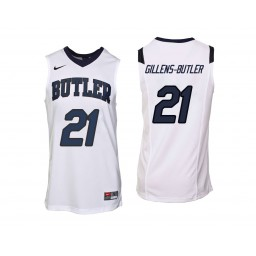 Youth Butler Bulldogs #21 Jerald Gillens-Butler Authentic College Basketball Jersey White