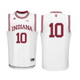 Indiana Hoosiers #10 Johnny Jager Authentic College Basketball Jersey White