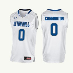 Youth Seton Hall Pirates #0 Khadeen Carrington Authentic College Basketball Jersey White
