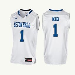 Youth Seton Hall Pirates #1 Michael Nzei Authentic College Basketball Jersey White