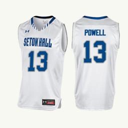 Seton Hall Pirates #13 Myles Powell Authentic College Basketball Jersey White