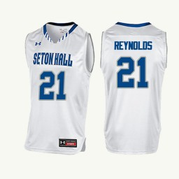 Youth Seton Hall Pirates #21 Shavar Reynolds Authentic College Basketball Jersey White